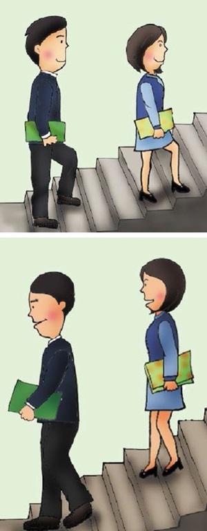 上下樓梯的禮儀