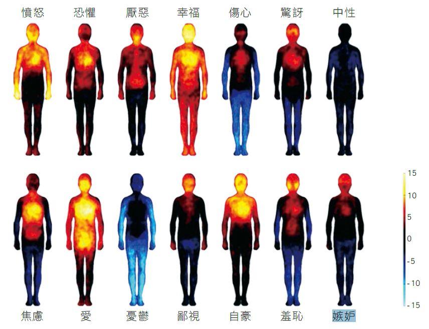 研究發現,人的體溫會隨情緒而變化