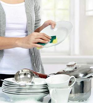 洗碗或刷洗家具可分次進行