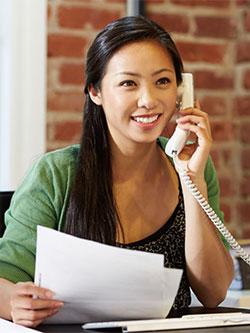 即使在電話中,也應以對方就在眼前的表情、態度去應對