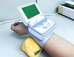 心律變異數的測具,可檢測自律神經的活性百分比。