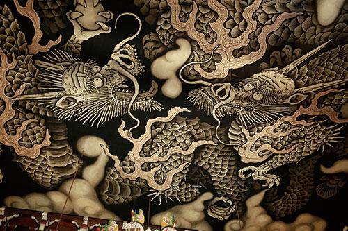 法堂天井-雙龍圖