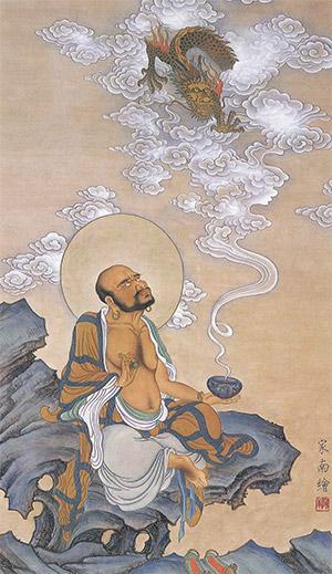 民間傳說濟顛道濟禪師是降龍羅漢轉世。(王家南恭繪)