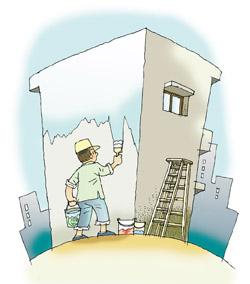 粉刷牆壁若選用油性漆,對人體健康危害最大
