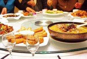 中式餐桌上的轉盤應順時鐘轉